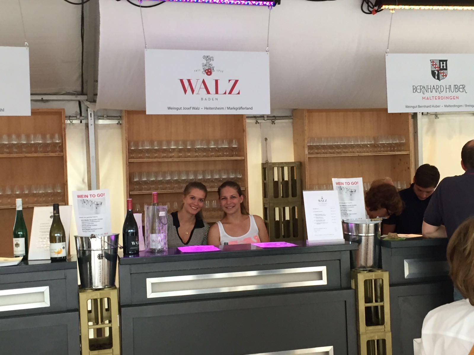 Weingut Walz auf dem Freiburger Weinfest